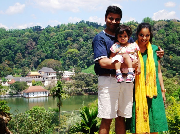 Kandy Lake and the Royal Palace of Kandy in the Background